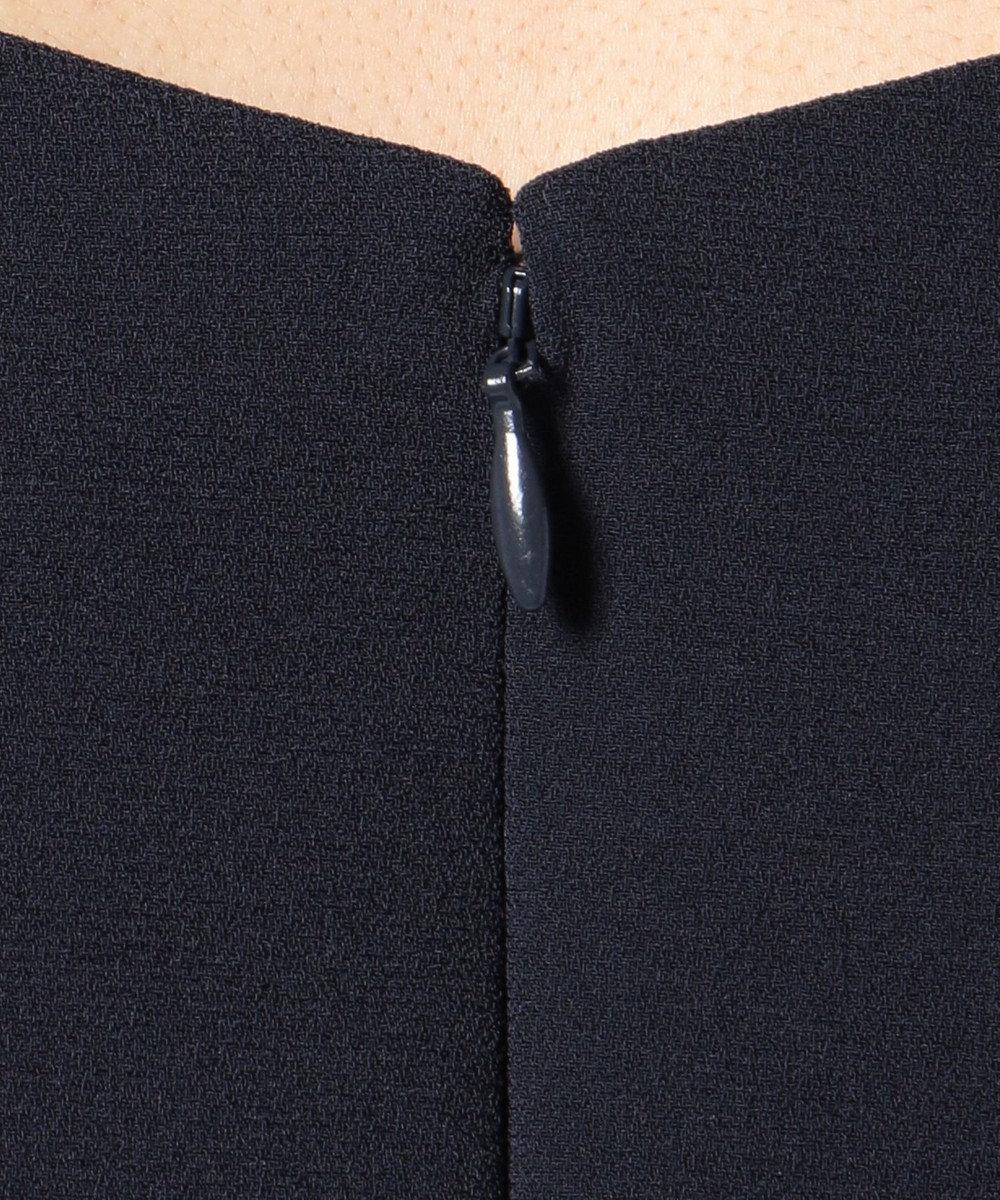 ICB Drape Back Satin サックドレス ネイビー系
