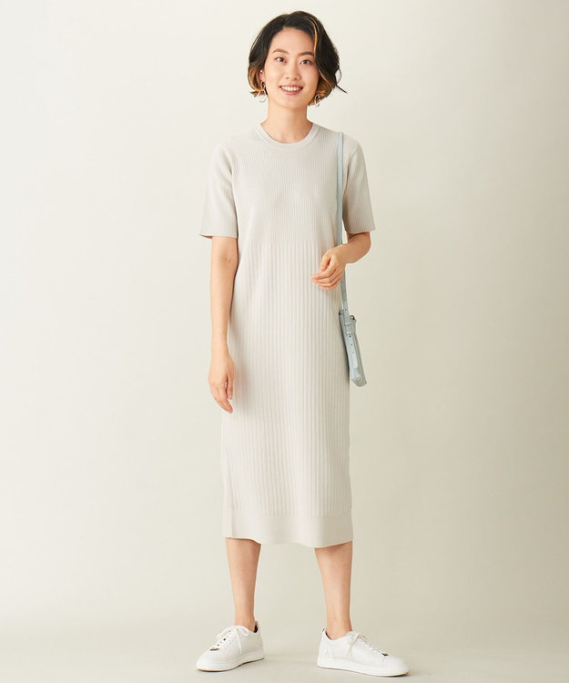 ICB L 【洗える】Crispy ニットドレス