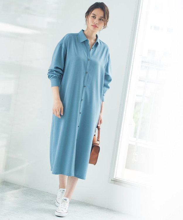 ICB 【Utilism】リネンライク シャツ ワンピース