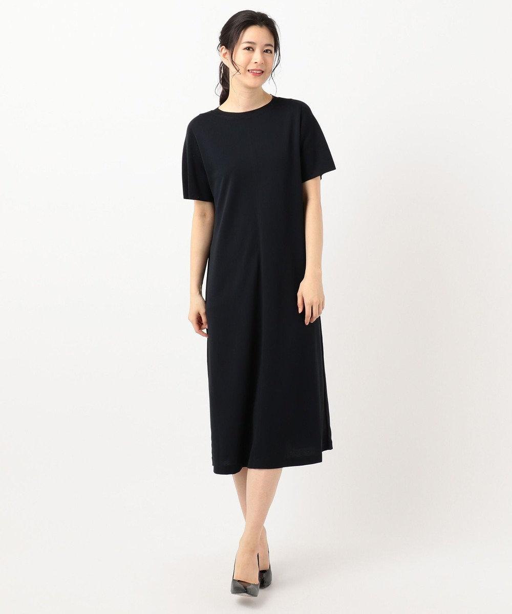 ICB L Knit Combi Jersey ワンピース ネイビー系