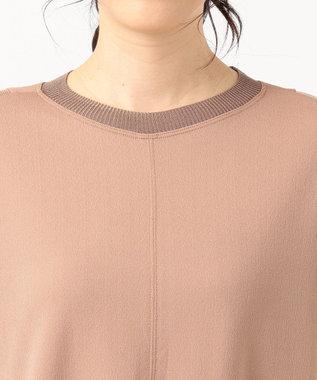 ICB L Knit Combi Jersey ワンピース キャメル系