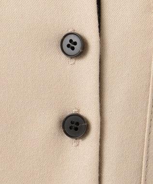 ICB Soft Melton シャツ風ワンピース ベージュ系
