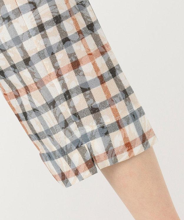 DAKS GOLF 【WOMEN】マーブルチェック シアーシャツ チュニック