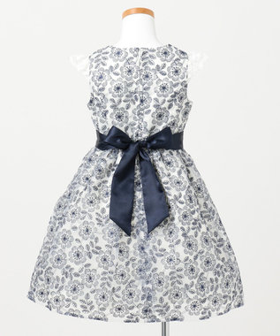 any FAM KIDS 【110-130cm】オーガンジー花柄刺繍 ドレス ホワイト系