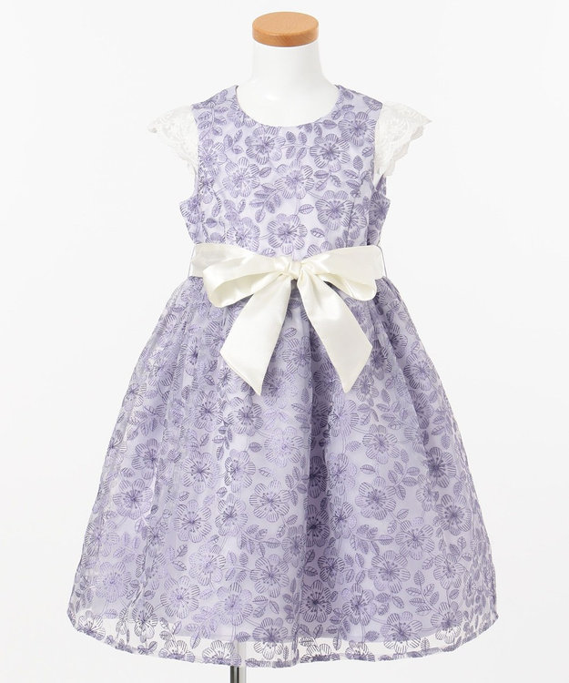 any FAM KIDS 【110-130cm】オーガンジー花柄刺繍 ドレス