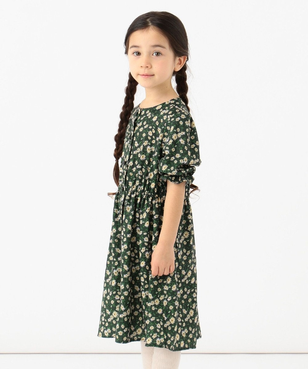 any FAM KIDS 【140-150cm】総柄ワンピース ダークグリーン系5