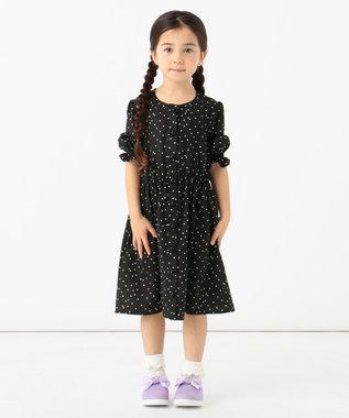 any FAM KIDS 【140-150cm】総柄ワンピース ブラック系5