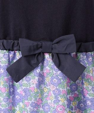 any FAM KIDS 【140‐150cm】オリジナル花柄プリント ワンピース ネイビー系5