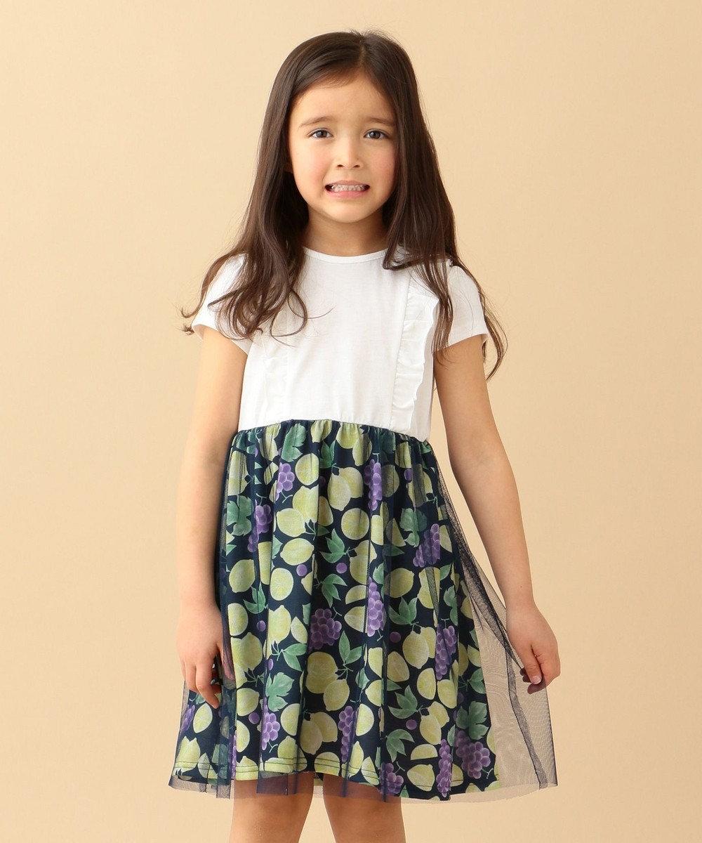 any FAM KIDS 【140‐150cm】フルーツプリント ワンピース ホワイト系