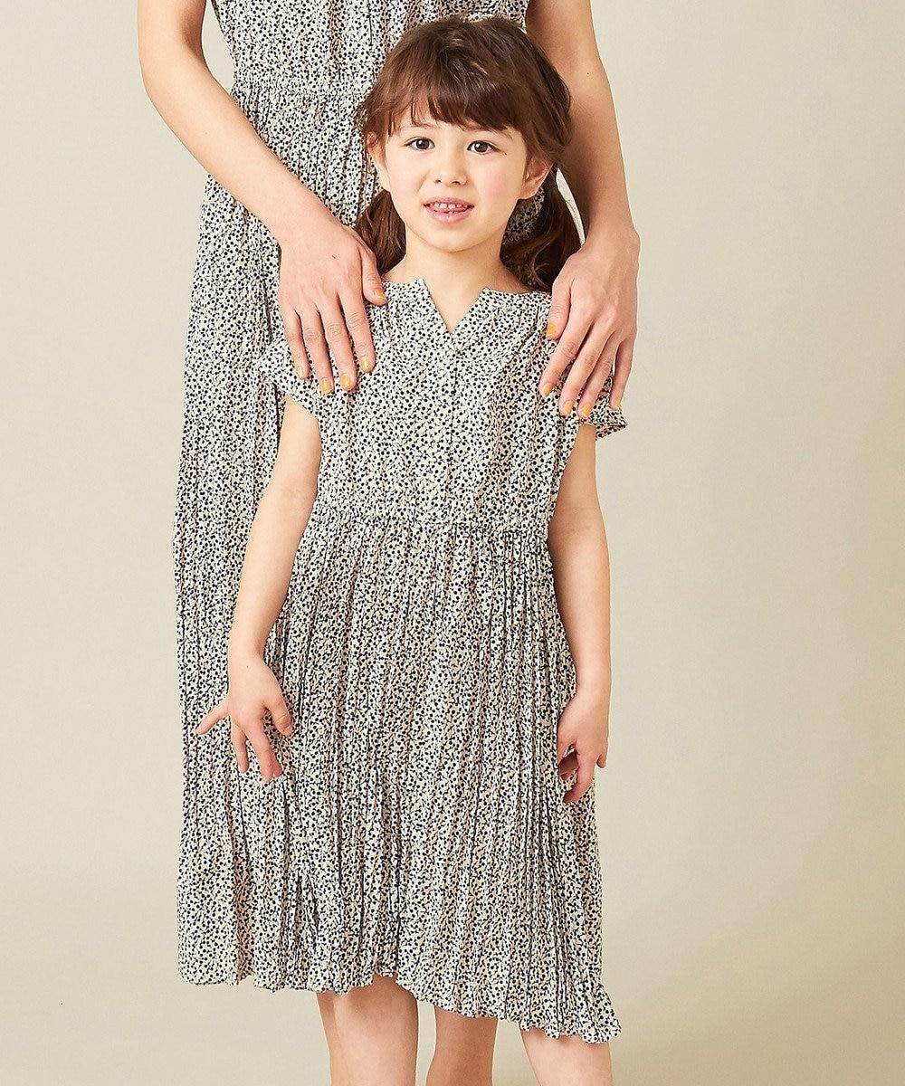 any FAM KIDS 【親子でお揃い/Lサイズ】フラワープリント ワンピース アイボリー系3