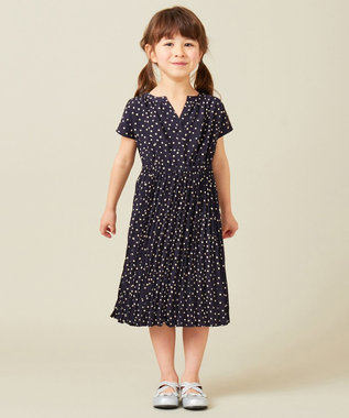 any FAM KIDS 【親子でお揃い/Lサイズ】フラワープリント ワンピース ネイビー系5