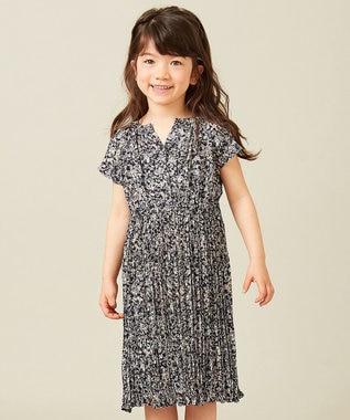 any FAM KIDS 【親子でお揃い/Lサイズ】フラワープリント ワンピース ネイビー系3