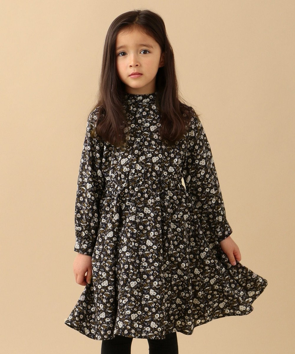 any FAM KIDS 【親子でお揃い/Lサイズ】フラワープリント ワンピース ベージュ系5