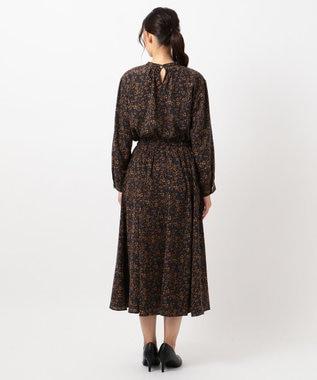 any FAM L 【洗える】小紋&レトロフラワープリント ワンピース ネイビー系5