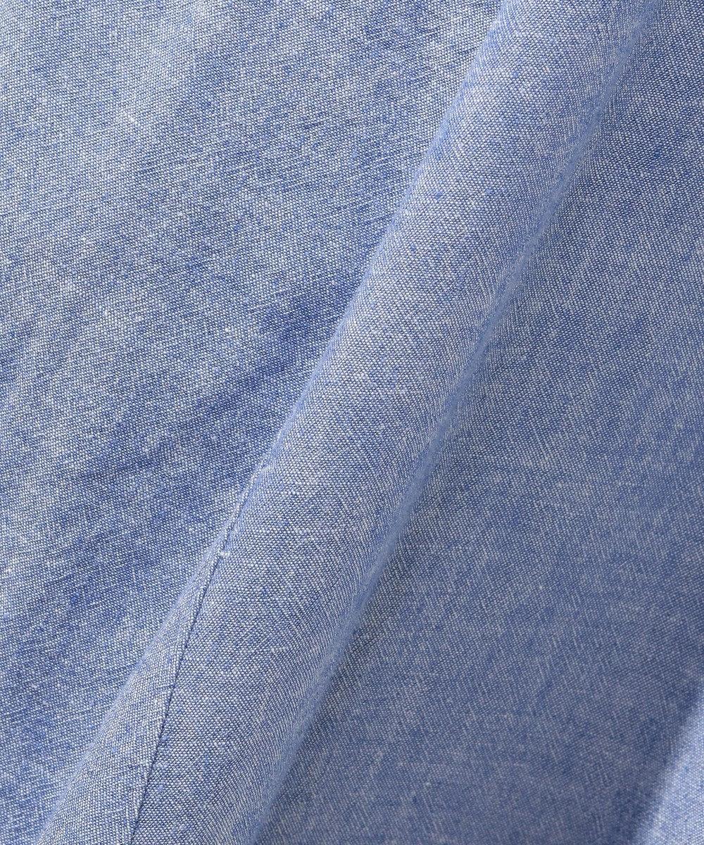 any FAM L 【洗える】シルキーリネン ワンピース ブルー