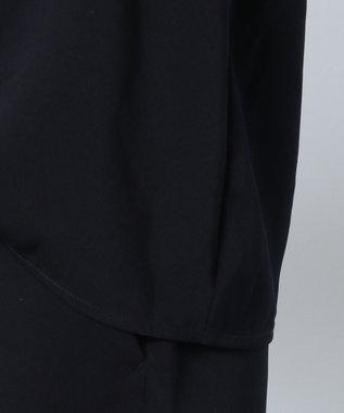any FAM 【セレモニー】エステルソフトストレッチVネック セットアップ ネイビー系