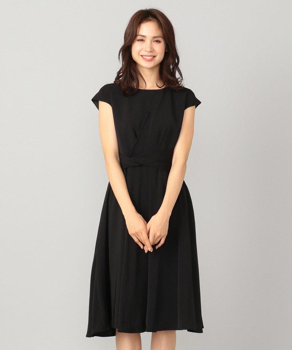 any FAM 【セレモニー】アシンメトリータック ドレス ブラック系