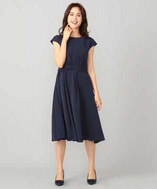any FAM 【セレモニー】アシンメトリータック ドレス ネイビー系