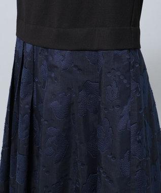 any FAM 【セレモニー】カットジャガード ドレス ネイビー系