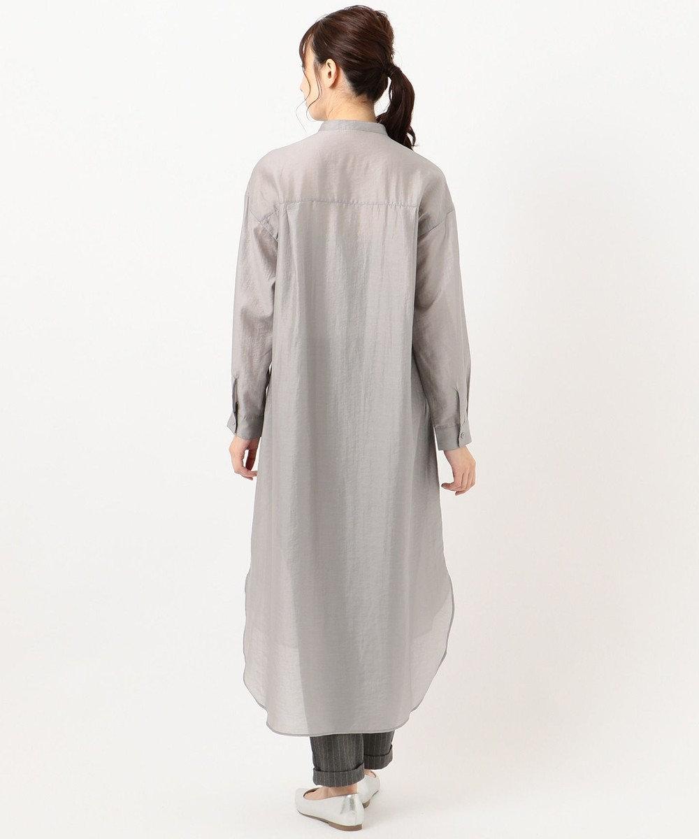 any FAM 【WEB限定】シアーシャツ ワンピース ライトグレー系