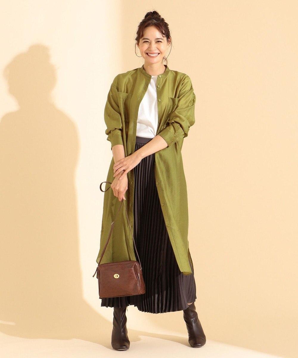 any FAM 【WEB限定】シアーシャツ ワンピース イエロー系