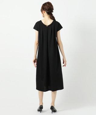any FAM 【洗える】ナチュラルワッシャー ワンピース ブラック系