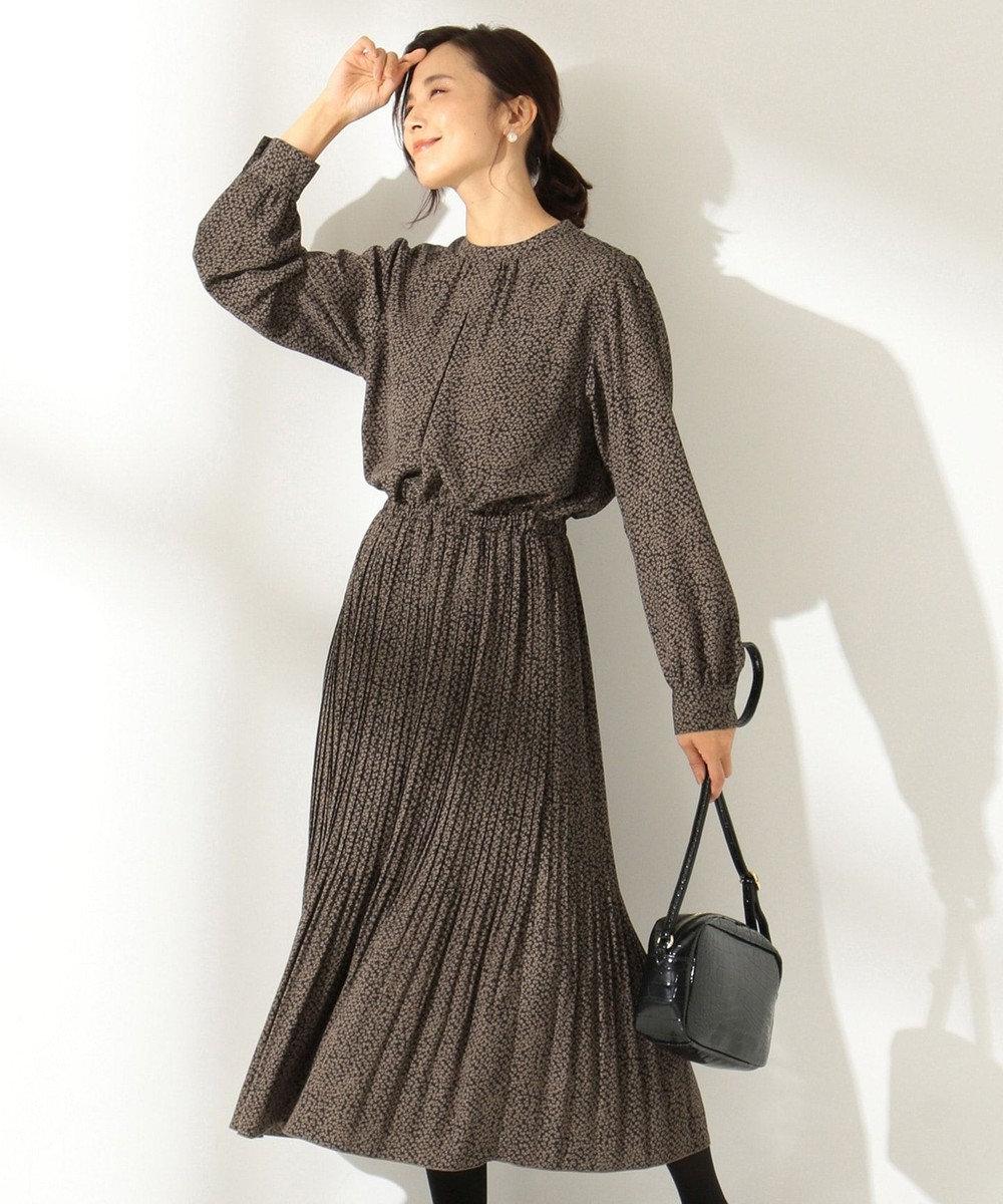 any FAM 【洗える】レトロフラワープリント ワンピース ブラック系5