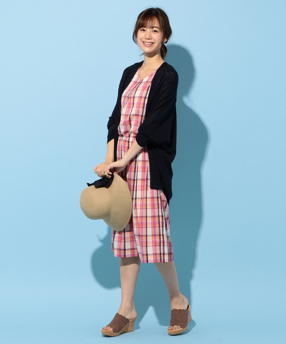 any FAM 【親子リンク】コットンナイロンチェック ワンピース ピンク系3