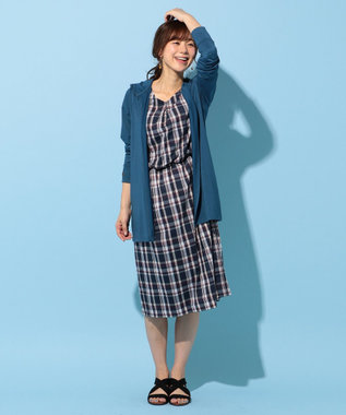 any FAM 【親子リンク】コットンナイロンチェック ワンピース ネイビー系3