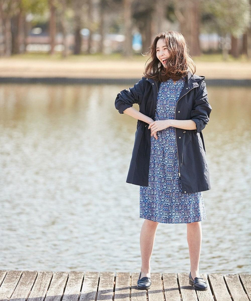 J.PRESS LADIES S 【洗える】LIBERTY MAUDE AMIES ワンピース ブルー系5