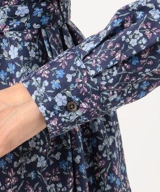 J.PRESS LADIES L 【洗える】LIBERTY MAUDE AMIES ワンピース ブルー系5