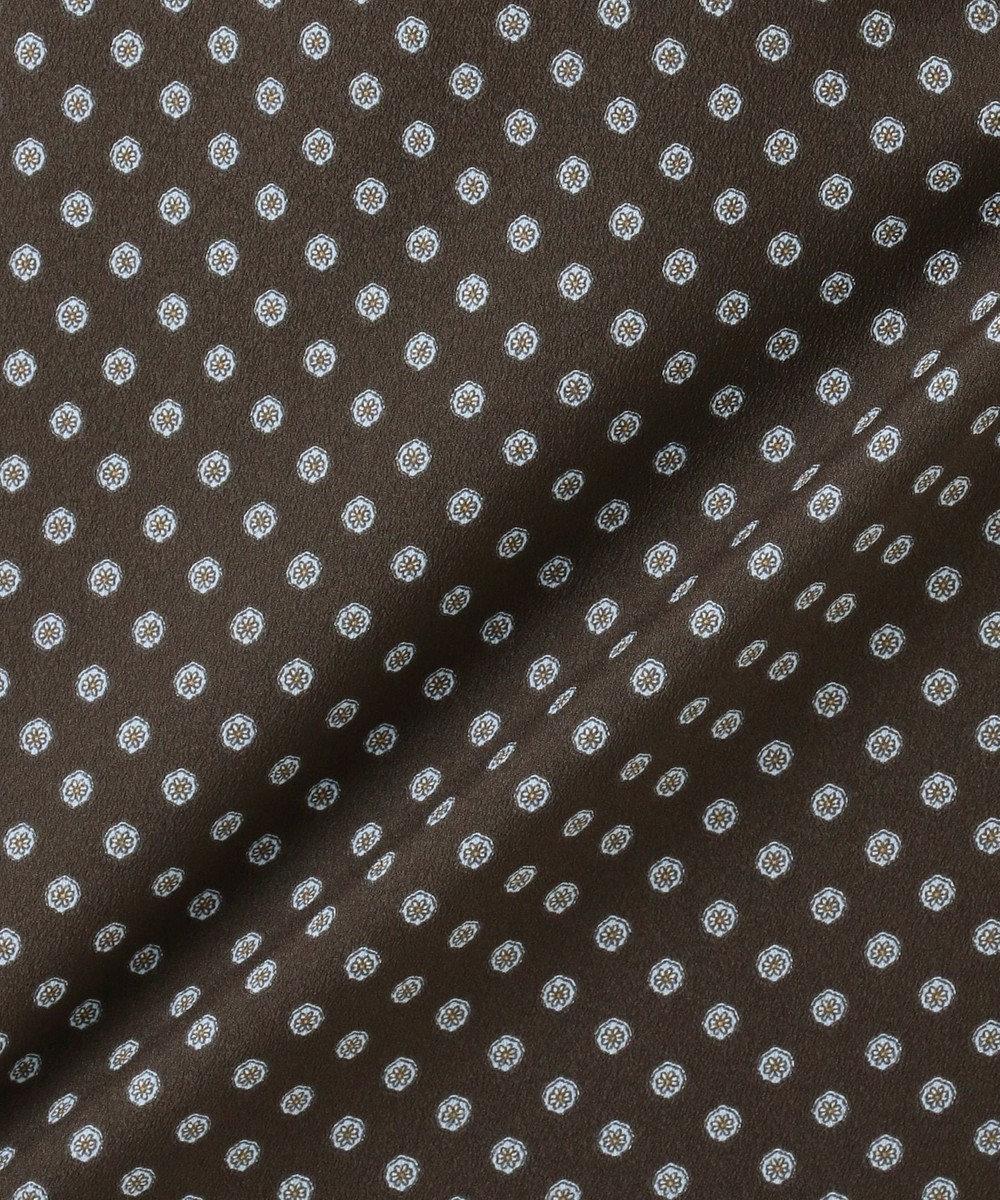 J.PRESS LADIES 【洗える】アンティークデシン小紋プリント ワンピース ダークブラウン系5