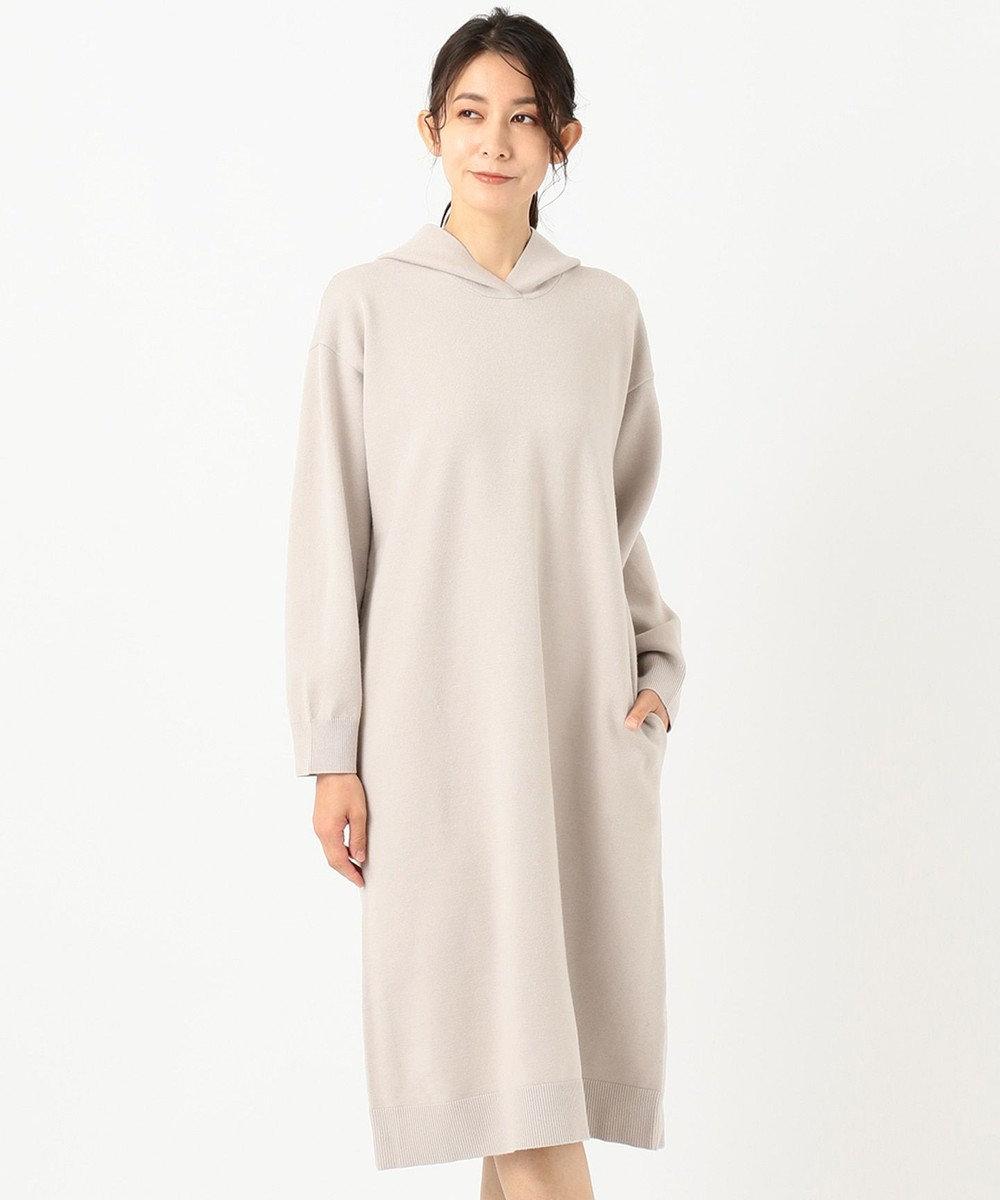 J.PRESS LADIES S 【洗える】KATE WOOL ニット ワンピース ベージュ系