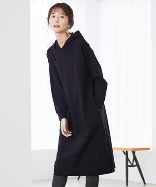 J.PRESS LADIES S 【洗える】KATE WOOL ニット ワンピース ネイビー系