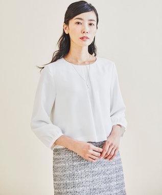 J.PRESS LADIES S 【セットアップ対応】ファンシーツイード ワンピース ホワイト系