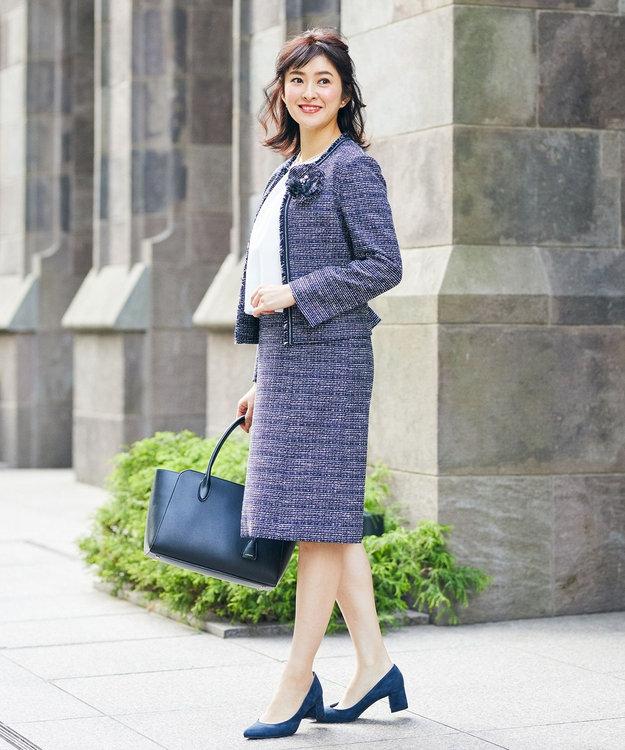 J.PRESS LADIES S 【セットアップ対応】ファンシーツイード ワンピース