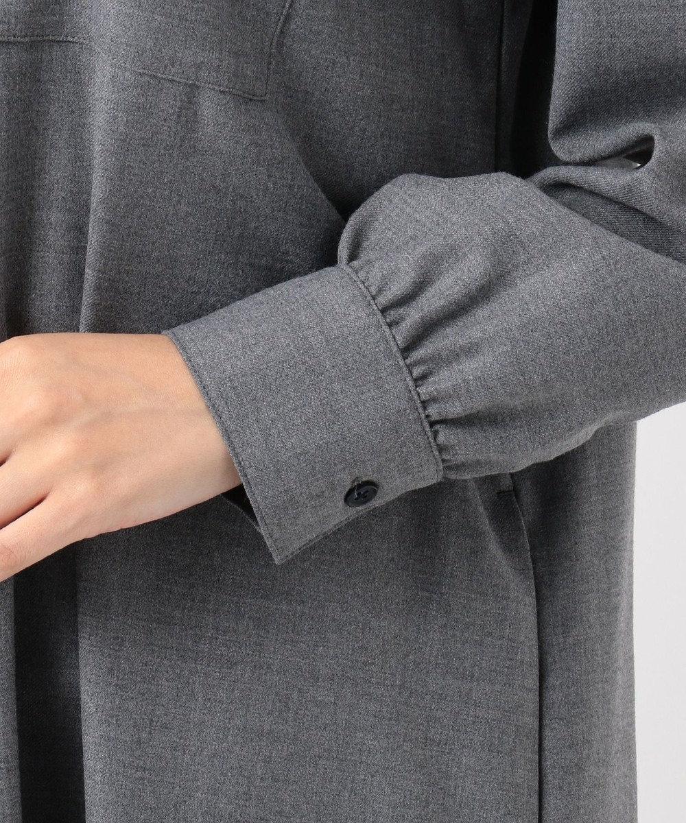 J.PRESS LADIES 【シワになりづらい】サキソニーストレッチ ワンピース グレー系
