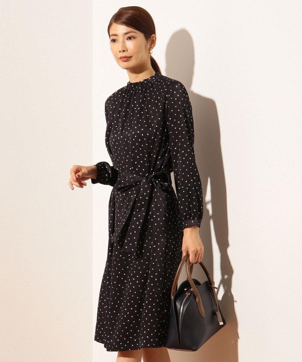 J.PRESS LADIES L 【洗える】SWEET DOTプリント ワンピース ネイビー系5