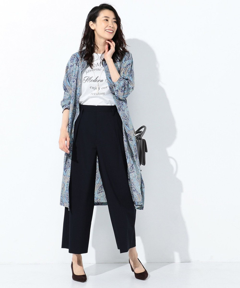 J.PRESS LADIES L 【洗える】Liberty Felix Raison 2WAY ワンピース ブルー系5