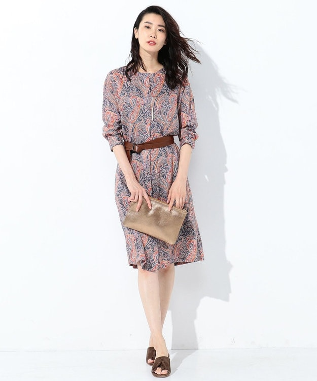 J.PRESS LADIES L 【洗える】Liberty Felix Raison 2WAY ワンピース