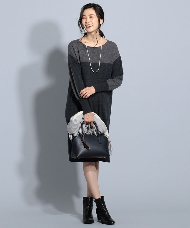 J.PRESS LADIES L 縮じゅう ニットワンピース