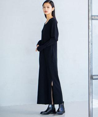 JOSEPH 【JOSEPH STUDIO・WEB限定カラーあり・洗える】スムースパフ ニットドレス ブラック系