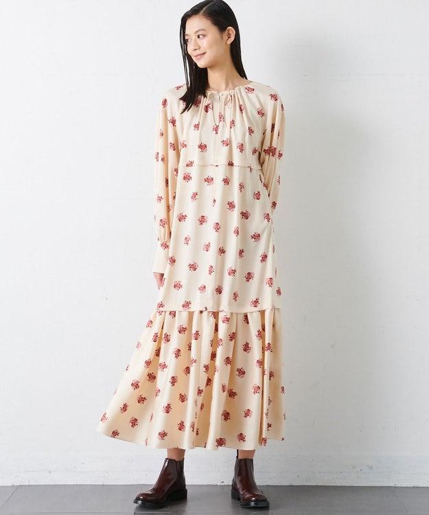 JOSEPH 【JOSEPH STUDIO・洗える】ペリアンローズプリント ロングドレス
