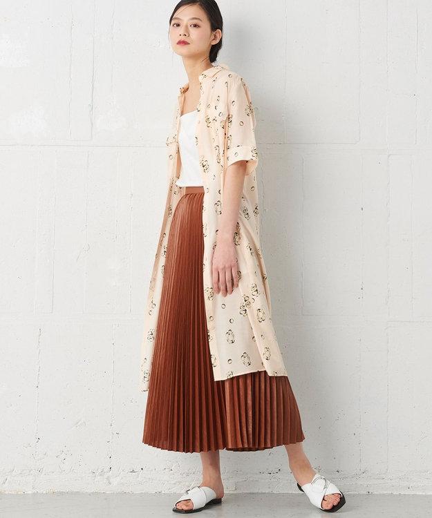 JOSEPH 【JOSEPH STUDIO・洗える】キュビズムプリント シャツドレス