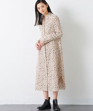 JOSEPH 【JOSEPH STUDIO・百々千晴さん推薦・洗える】ダイアマンプリント ドレス ベージュ系3