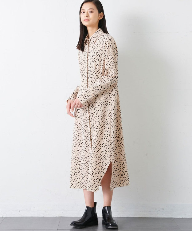 JOSEPH 【JOSEPH STUDIO・百々千晴さん推薦・洗える】ダイアマンプリント ドレス