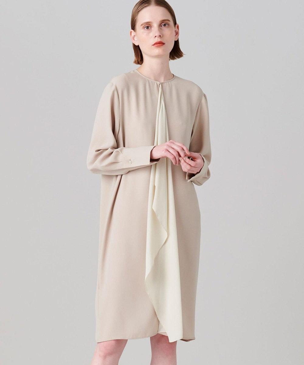 JOSEPH トリアセダブルクロス ドレス ベージュ系