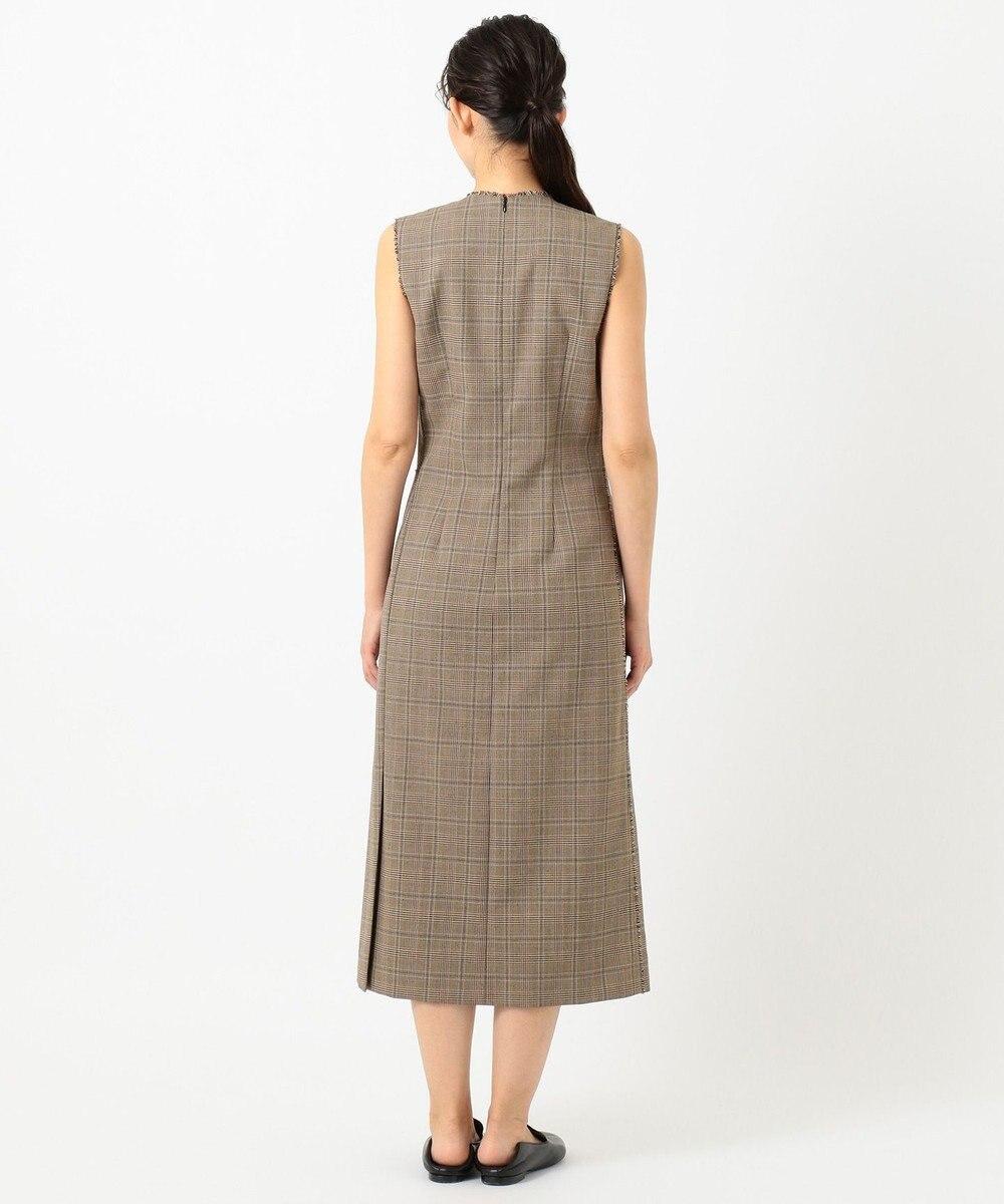 JOSEPH グレンプレイド ドレス キャメル系3