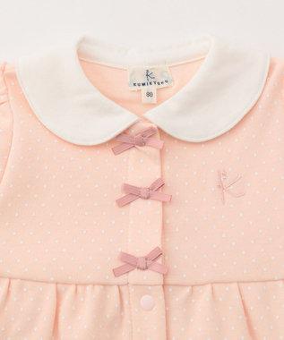 組曲 KIDS 【BABY】40/-ドットプリント セットアップ ピンク系5