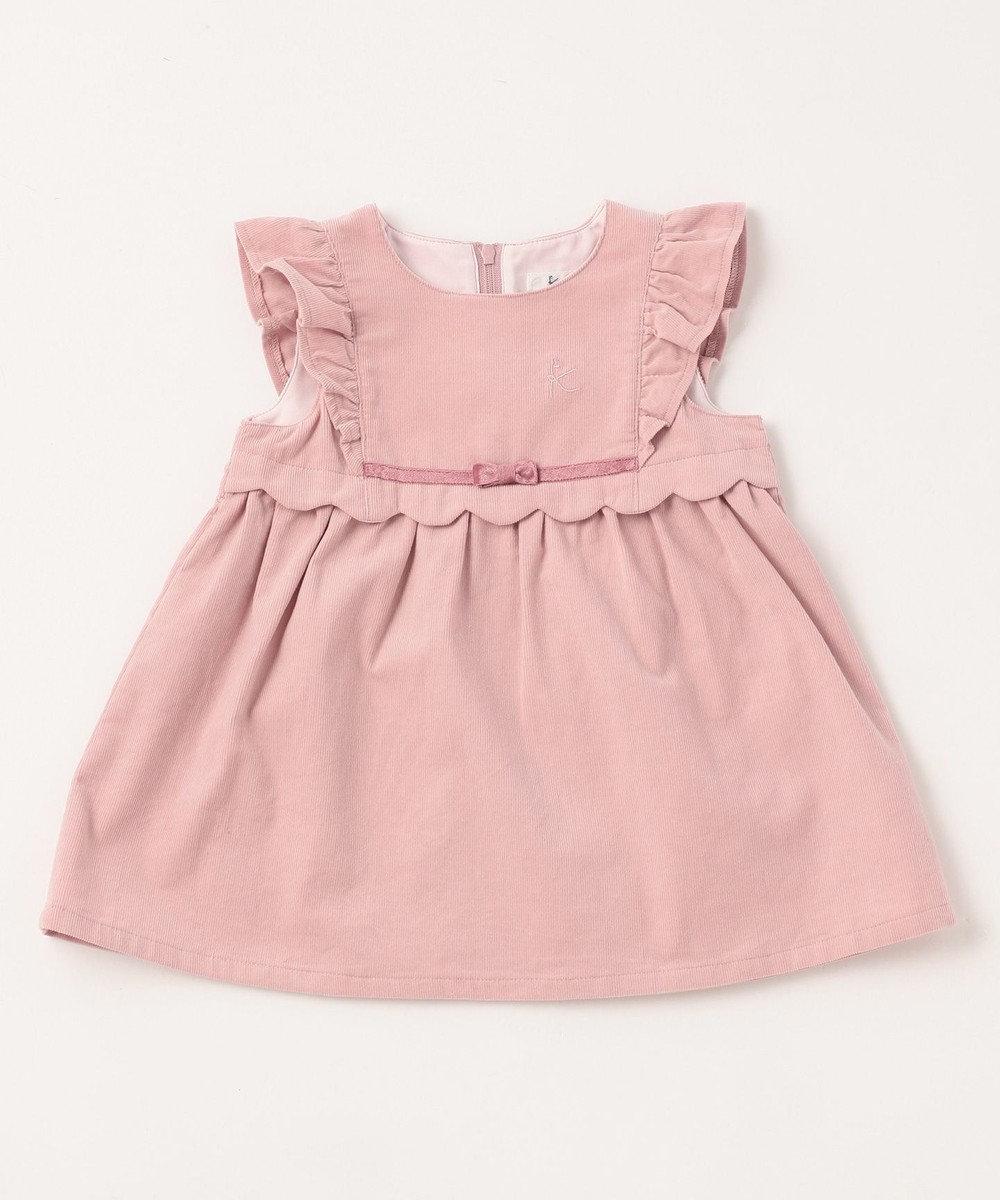 組曲 KIDS 【BABY】コーデュロイ ワンピース ピンク系